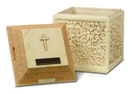 Gold/White Venetian Urn Vault (with cross & nameplate)